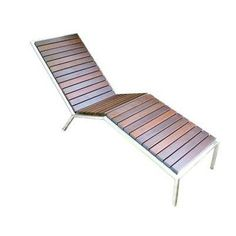 Talt Fixed Chaise Lounge Frame Finish: Stainless Steel, Surface Finish: Sand Shade Polyboard - http://delanico.com/chaise-lounges/talt-fixed-chaise-lounge-frame-finish-stainless-steel-surface-finish-sand-shade-polyboard-578172330/