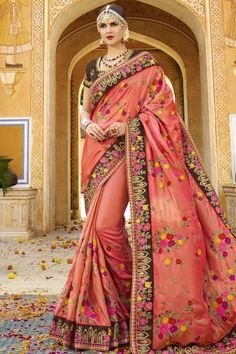Women's Clothing Indian Traditional Peacock Designer Sana Silk Saree Wedding Party Wear Sari Be Friendly In Use Clothing, Shoes & Accessories