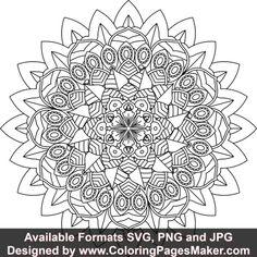 SVG Mandala Art #812 Mandala Design, Mandala Art, Easy Sketch Pro, Mandala Coloring Pages, Vinyl Decals, Tapestry, Things To Sell, Dinner Plates, Hanging Tapestry