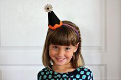 Halloween Party Hats using @Target AC Halloween goodies #halloween #craft #costume #witch