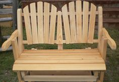 Cedar Glider by Flamborough Patio Cedar Furniture, Outdoor Furniture, Outdoor Chairs, Outdoor Decor, Gliders, Patio, Projects, Home Decor, Log Projects