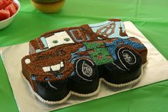 tow mater birthday cake  disney cars