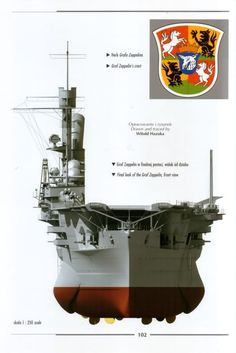 German aircraft carrier Graf Zeppelin with logo.