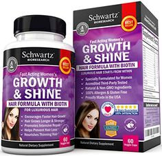 Hair Growth Vitamins with Biotin. Exclusive Hair Growth Product for Women for Longer, Stronger, Silky & Soft Hair. Visible results in 1 Month. Gluten Free Non-GMO Vitamins for Hair Growth Made in USA - http://alternative-health.kindle-free-books.com/hair-growth-vitamins-with-biotin-exclusive-hair-growth-product-for-women-for-longer-stronger-silky-soft-hair-visible-results-in-1-month-gluten-free-non-gmo-vitamins-for-hair-growth-made-in-usa/