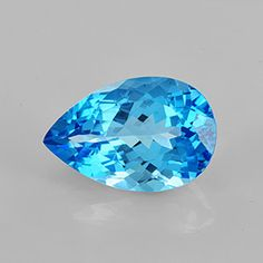 Beautiful Faceted Cut Top Grade Colour Shade Pear Shape Eye Clean Clarity Excellent Luster #Swiss #Blue #Topaz 16.89 ct 20x13x9.5 M.M #December #Birthstone for #Pendent #Rings Topaz makes an ideal gem. A good hardness 8 and desirable colours, combined with a relative abundance and availability makes it one the most Popular Gemstone
