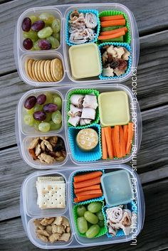 Fun weekend snack boxes packed for the car! | packed in #easylunchboxes containers