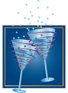 Champagne Glasses New Years Eve Stock Art Illustration