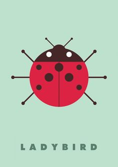 Ladybird - Insects & Bugs by Graphic Nothing (Gary Andrew Clarke), via Behance