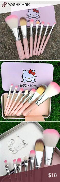 Host Pick! Hello Kitty 7 PC Makeup Brush Set Hello Kitty 7 PC makeup brush set. Comes with decorated tin. Hello Kitty Makeup Brushes & Tools