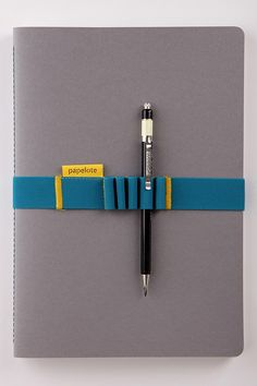 Papelote Elastic Notebook Strap // A4 : Grey | The Journal Shop