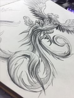 Phoenix tattoo design, @hiepsamatattoo
