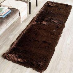 Paris Shag Chocolate (Brown) 2 ft. 3 in. x 8 ft. Runner