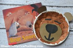 Paper Plate Sleeping Bear Kid Craft & Paddington Bear Paper Plate Craft- It would be fun to make a paper ...