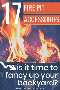 Gadgets and gear to fancy up your backyard, cottage, or campsite fire pit area. Gets suggestions for backyard lighting, campfire equipment, and fire pit must-haves. #campfire #firepit