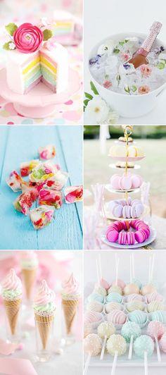 30 Utterly Romantic Décor Ideas for a Dreamy Pastel Wedding! Sweet Treats