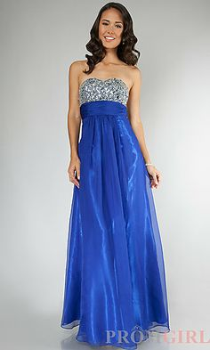 Jasz Strapless Gown with Small Train at PromGirl.com