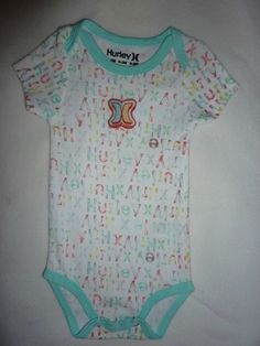 Hurley Girls White One Piece Size 0 3 Months Baby Infant Toddler | eBay