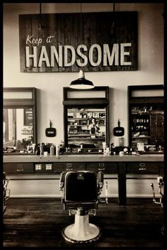 """""""Keeing it Handsome"""" - Heisenburgos loves this photo. Heisenburgos can smell the after shave and hear the floors creaking as he walks over to sit in the chair for a shave."""