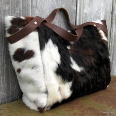 Hair On Cowhide Slouchy Bag
