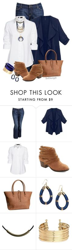 """""""Curvy Woman - Plus Size"""" by ginothersyde liked on Polyvore featuring Old Navy, Steffen Schraut, H&M, Monki, Zoemou and 333"""