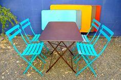 Fermob garden furniture at the Wooden Duck in Berkeley.