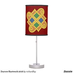Durrow Knotwork 2016 Table Lamp.  Sunday Steal: 50% Off Dry Erase Boards, Clipboards & Desk Lamps USE CODE: ZSUNSTEAL182 Offer is valid through June 11, 2017 11:59PM PT.  #Zazzle #Sunday_steal #desk_lamp #table_lamp #lamp #Durrow_knotwork #Celtic_knotwork #Durrow_knot #Celtic_knot #knotwork #interlace