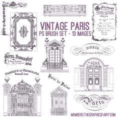 Vintage Paris Image Bundle - Stand Alone Kit - For Non Members! - The Graphics Fairy