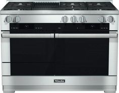 Pro-Style Dual Fuel Natural Gas Range with 6 Sealed M Pro Dual Stacked Burners M Pro Griddle TwinPower Convection Fan Oven Self-Clean 21 Operating Modes Warming Drawer and ComfortSwivel Handle in Stainless Steel 48 Inch Range, 48 Range, Lustre Rose, Spot Sur Rail, Stainless Steel Oven, Range Cooker, Herd, Home Repairs, Trendy Tree