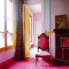 Colorful pink yellow and so on decor