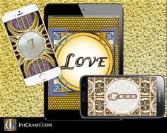 I Love Gold. Lots of gold and bling to choose from at: www.inigrams.com