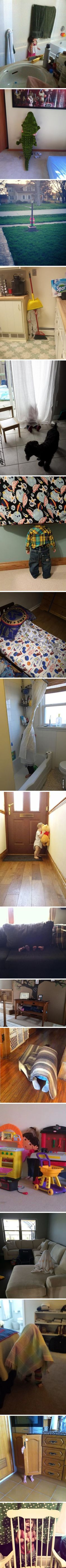 Kids who are terrible at hide and seek - 9GAG