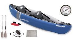 Adventure Kit 2012 – Blue – 2 person canoe with Bag, Oars & Pump, £246.00