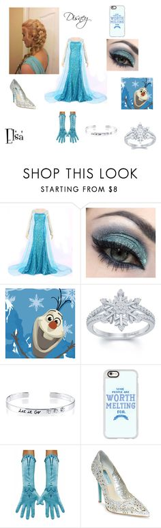 """Elsa"" by anitacookiemonster129-1234 on Polyvore featuring Disney, Casetify and Betsey Johnson"