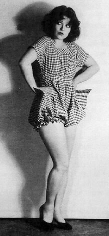 clara bow in gingham bloomers