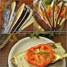Quer uma dica leve, prática e saudável? A Berinjela em Leque é deliciosa, perfeita para o #lanche ou #jantar!  #Receita aqui: http://www.gulosoesaudavel.com.br/2012/09/17/berinjela-leque/