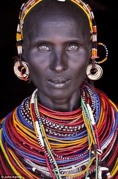 A woman from the Rendille, a Cushitic-speaking ethnic group inhabiting Kenya's North Easte...