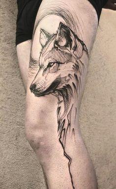 wolf tattoo design Spirit Animal is part of Wolf Tattoo Designs Magnificent Designs Ideas Inkdoneright - Cafer tatuajes wolf tattoo Wolf Tattoo Back, Small Wolf Tattoo, Wolf Tattoo Sleeve, Sleeve Tattoos, Tattoo Wolf, Wolf Sleeve, Tribal Sleeve, Tribal Wolf Tattoos, Animal Tattoos