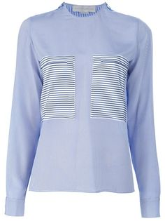 STELLA MCCARTNEY Striped Zip Pocket Blouse