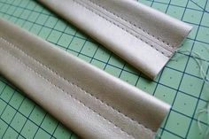 How to make (less bulky) leather bag straps