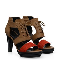 #HOGAN Women's Spring - Summer 2013 #collection: OPTY lace-up #sandals with suede band.