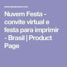 Nuvem Festa - convite virtual e festa para imprimir - Brasil | Product Page
