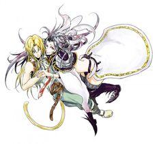 Zidane and Kuja ||| Final Fantasy IX Fan Art