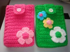 How to Crochet Mobile Cell Phone Pouch for iPhone Samsung - Crochet Ideas Crochet Wallet, Free Crochet Bag, Crochet Art, Crochet Purses, Cute Crochet, Crochet Crafts, Crochet Dolls, Crochet Stitches, Crochet Projects