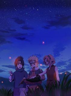 Sasuke, Naruto, & Sakura.NARUTO. ANIME.  Pinned from Stephy Sama