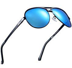 50df0f0a8f2 ATTCL Mens Hot Classic Full Frame Aviator Driving Polarized Sunglasses For  Men 18545black blue