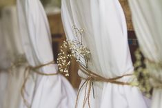 Twine wrapped around chair covers Photography: Sarah Bamford Photography…