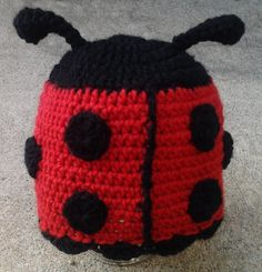 Sweet Lady Bug Beanie Hat by Evermicha on Etsy, $25.00