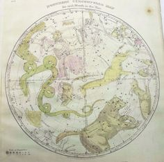 Celestial map from emma_r, via Flickr.  Love the juxtaposition of the traditional and the whimsical.