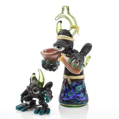 """⛩📿 Drunken Monks 🎴 : Continues : """"Itsuro"""" a collaborative mini tube set created by @jacobjarvisglass x @whitemonkeyglass 🔥⛩💮🎴📿 Hamato was a master of escape. As a monk his meditations had led him to a place outside the realm of his brothers. In this place he would effortlessly assume the identity of Itsuro. As itsuro there was a peace and zen unknown in the real world. What Itsuro the warrior monk had found within himself was something that some would spend a lifetime looking for…"""