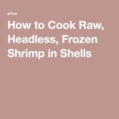 how to cook raw shrimp on the stove